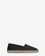 SAINT LAURENT Espadrille U espadrille in black crocodile embossed leather f