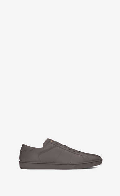 SAINT LAURENT Low Sneakers U Sneaker COURT CLASSIC SL/01 en cuir gris anthracite a_V4