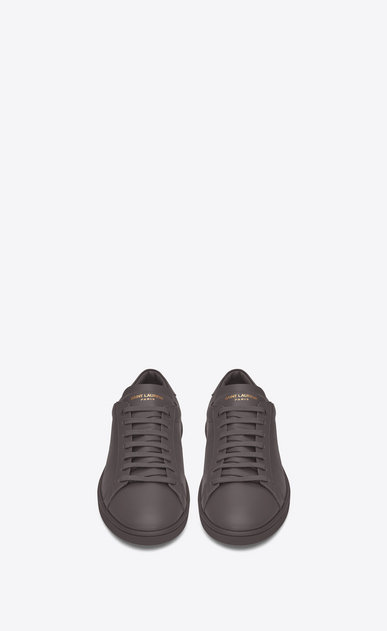 SAINT LAURENT Low Sneakers U Sneaker COURT CLASSIC SL/01 en cuir gris anthracite b_V4