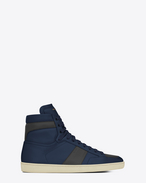 SAINT LAURENT SL/10H U Signature COURT CLASSIC SL/10H in Indigo Blue and Dark Anthracite Leather f