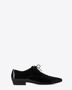 SAINT LAURENT Classic Shoes U DEVON 25 derby shoe in black patent leather f