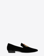 SAINT LAURENT Classic Shoes U DEVON 25 loafer in black velour f