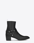 SAINT LAURENT Boots U Classic WYATT 60 Harness Boot in Black Leather  f
