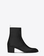 SAINT LAURENT Stiefel U signature wyatt 60 zipped boot in black leather f