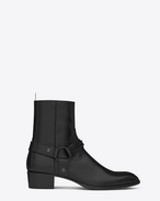 SAINT LAURENT Stiefel U WYATT 40 Chain Harness Boot in Black Leather f