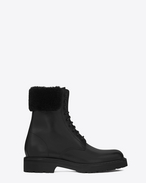 SAINT LAURENT ARMY SHOES U TREKKER 25 Boot in Black Leather f