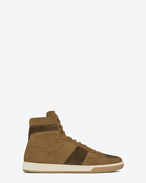 SAINT LAURENT SL/10H U Signature COURT CLASSIC SL/10H in Tan and Brown Suede f
