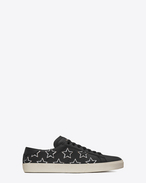 SAINT LAURENT SL/06 U Signature COURT CLASSIC SL/06 CALIFORNIA Sneaker in Black Leather and Silver Metallic Leather f