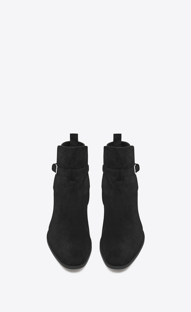 SAINT LAURENT Boots Man Signature WYATT 30 Jodhpur Boot in Black Suede b_V4
