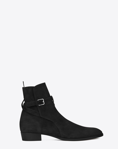 Wyatt 30 Jodhpur Boot In Graphite Suede in Black