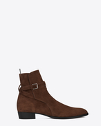 SAINT LAURENT Boots U Signature WYATT 30 Jodhpur Boot in Brown Suede f