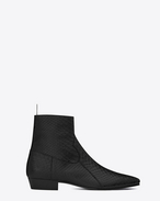 SAINT LAURENT Boots U DEVON 30 western boot in black python embossed leather f