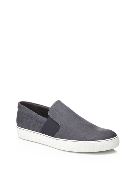 lanvin denim slip-on sneaker men