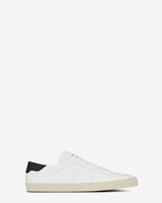 SAINT LAURENT Sneakers D Signature COURT CLASSIC SL/06 Sneaker in White and black Leather f