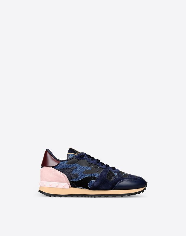 Denim Camouflage Sneaker for Woman
