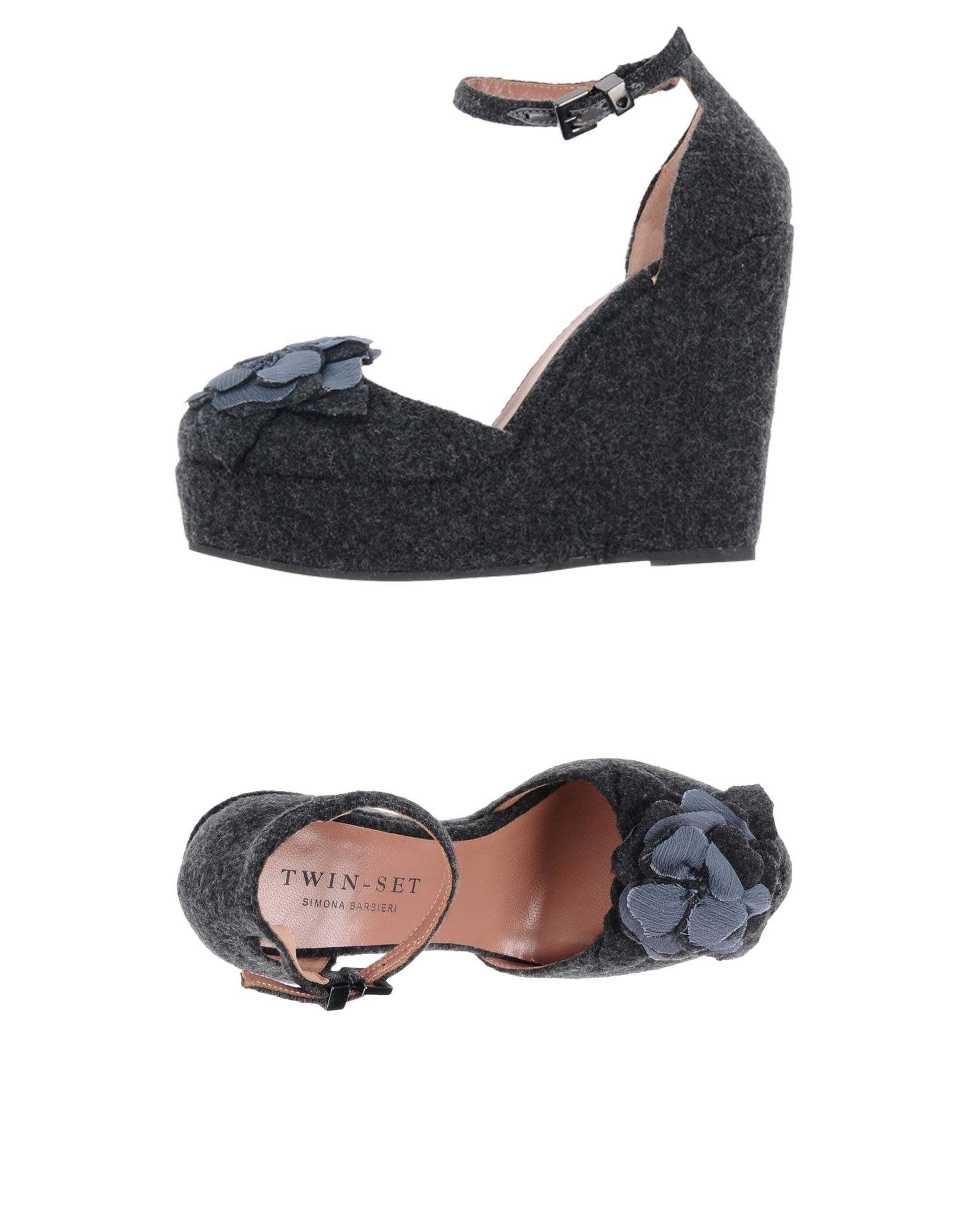 TWIN-SET Simona Barbieri Damen Pumps Farbe Granitgrau Größe 11