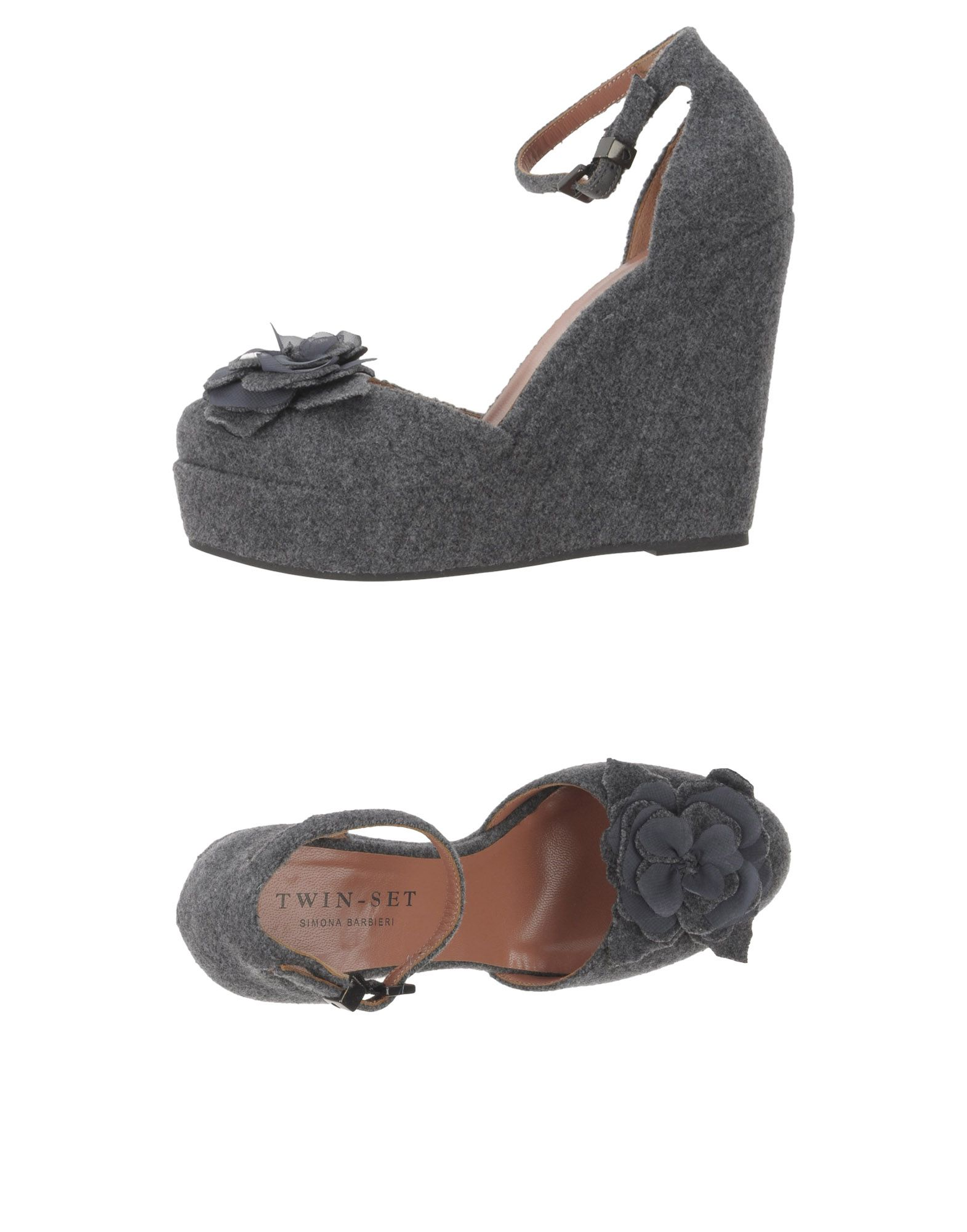 TWIN-SET Simona Barbieri Damen Pumps Farbe Grau Größe 15