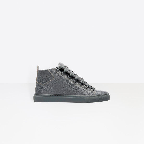 Grained Calfskin High Sneakers