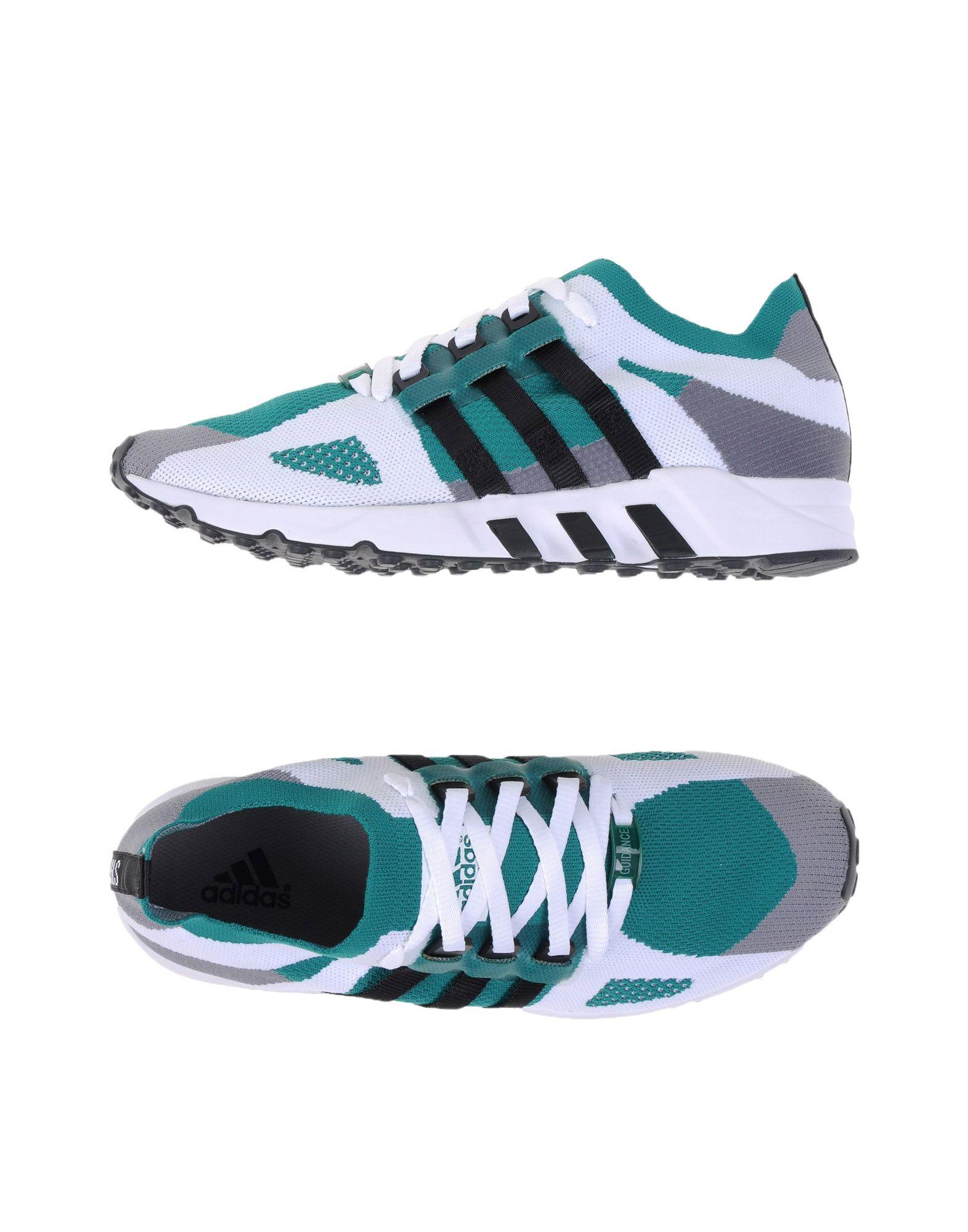 《送料無料》ADIDAS ORIGINALS メンズ スニーカー&テニスシューズ(ローカット) グリーン 8.5 紡績繊維 EQUIPMENT RUNNING G
