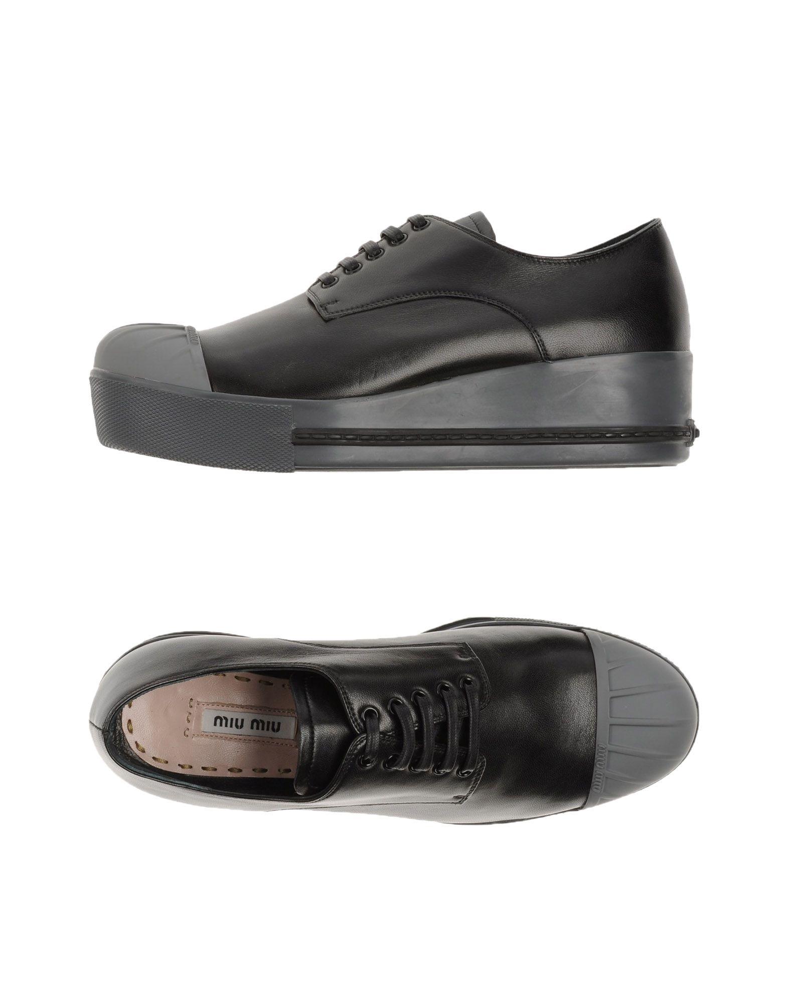 MIU MIU Обувь на шнурках miu miu черный шерстяной кардиган
