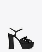 SAINT LAURENT Candy D CANDY 80 Bow Sandal in Black Patent Leather f