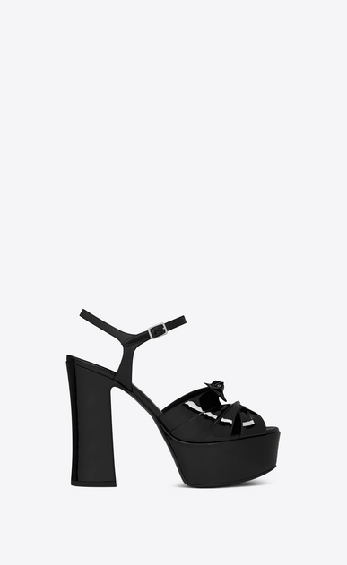 SAINT LAURENT Candy D CANDY 80 Bow Sandal in Black Patent Leather v4