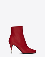 SAINT LAURENT Heel Booties D anita 85 zipped ankle boot in red leather f