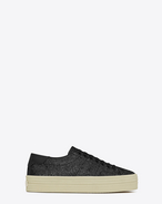 SAINT LAURENT Trainers D Signature COURT CLASSIC SL/39 Platform Sneaker in Black Glitter f
