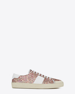 SAINT LAURENT Sneakers D Sneaker Signature COURT CLASSIC SL/37 SURF in glitter multicolori e bianco ottico in pelle  f