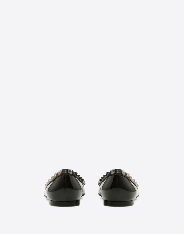 Patent Rockstud Noir Ballet Flat