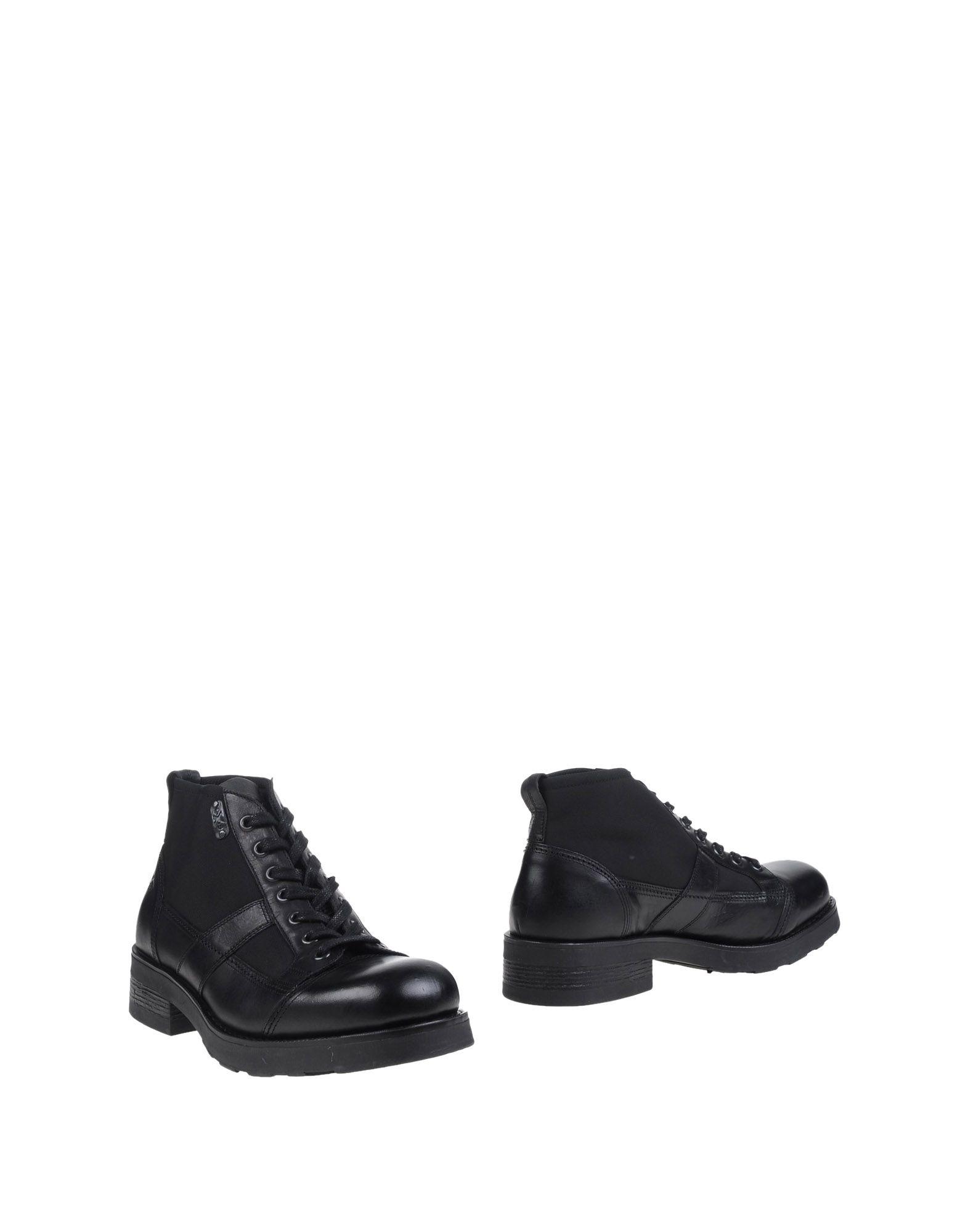 O.X.S. メンズ ショートブーツ ブラック 41 革 / 紡績繊維
