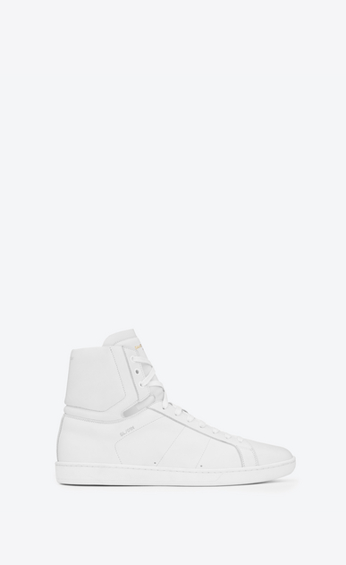 SAINT LAURENT High top sneakers U signature court classic sl/01h high top sneaker in white leather a_V4