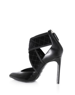 LANVIN BLACK CROSS-OVER HIGH HEEL Heels D r