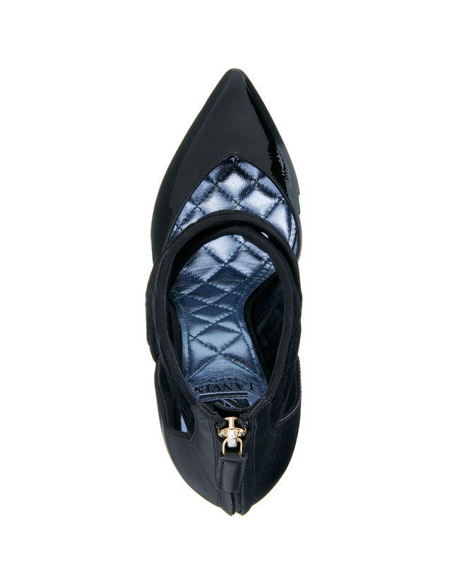 LANVIN BLACK CROSS-OVER HIGH HEEL Heels D d