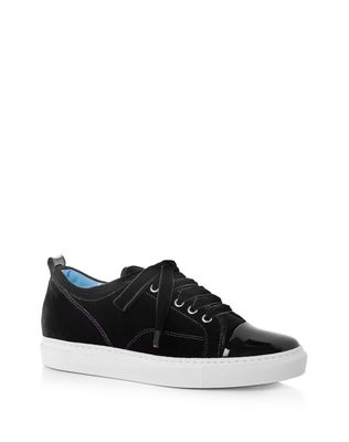 LANVIN Sneakers D LOW BLACK EMBOSSED SNEAKER IN LAMBSKIN F