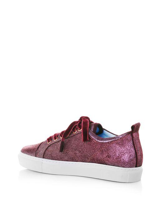 lanvin metallic pink low-top sneaker  women
