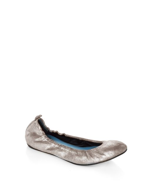 lanvin classic silver ballet pump  women