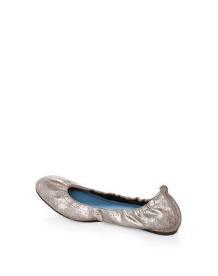 LANVIN CLASSIC SILVER BALLET PUMP Ballerinas D r