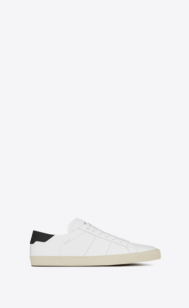SAINT LAURENT Sneakers Woman court classic sl/06 sneaker in white and black leather a_V4