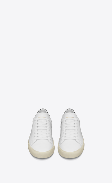 SAINT LAURENT Sneakers D Signature COURT CLASSIC SL/06 Sneaker in White and black Leather b_V4