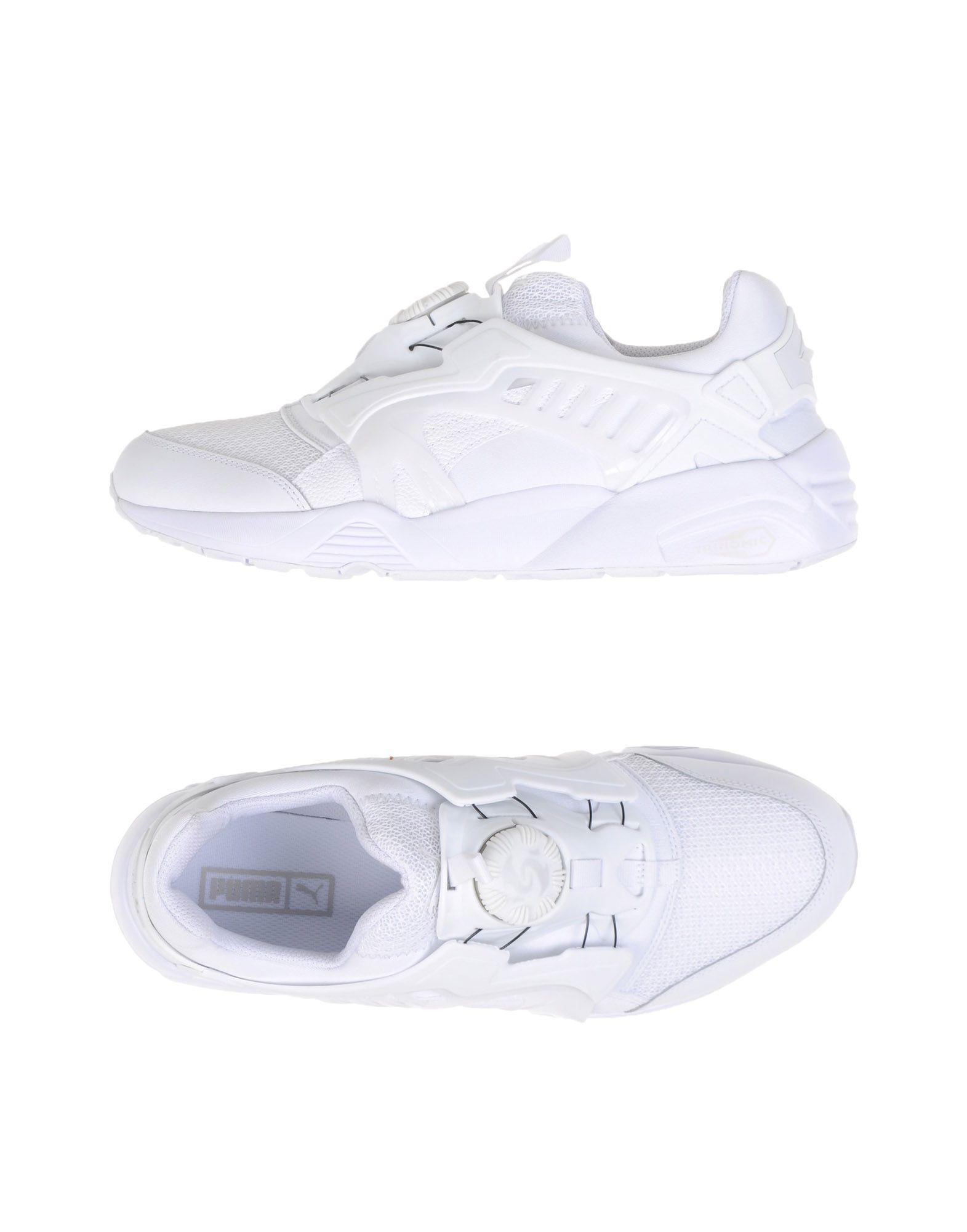 《送料無料》PUMA メンズ スニーカー&テニスシューズ(ローカット) ホワイト 7.5 紡績繊維 DISC BLAZE CT