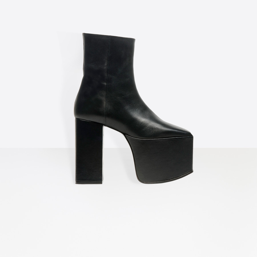 BALENCIAGA Platform Booties Platform Shoes Woman f