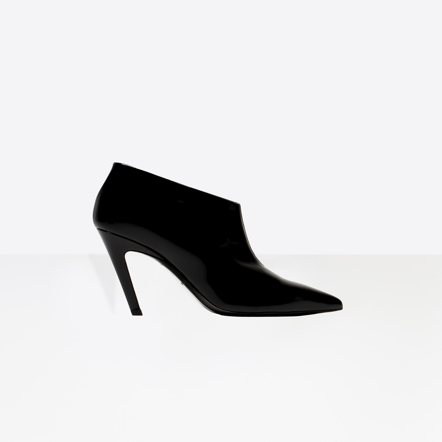 BALENCIAGA Slash Heel High Bootie Slash Shoes D f