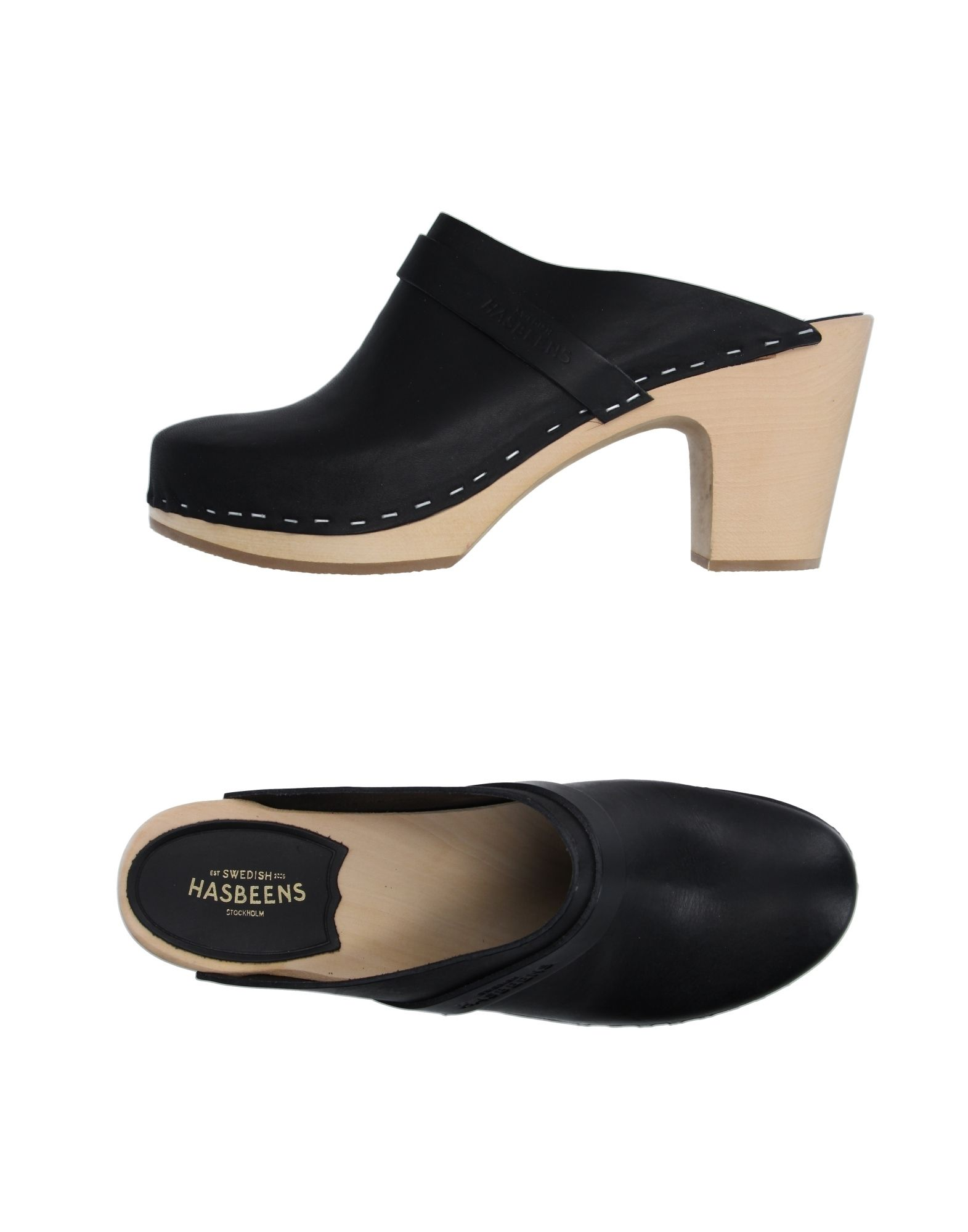 SWEDISH HASBEENS Mules in Black