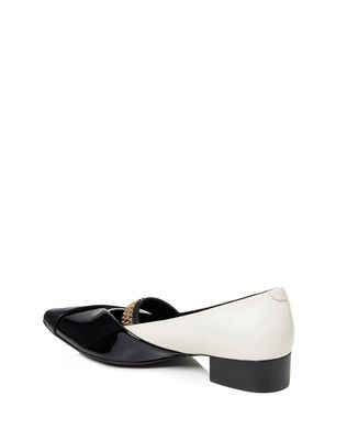 LANVIN CHAIN CROSS-OVER BALLET FLAT Ballerinas D d