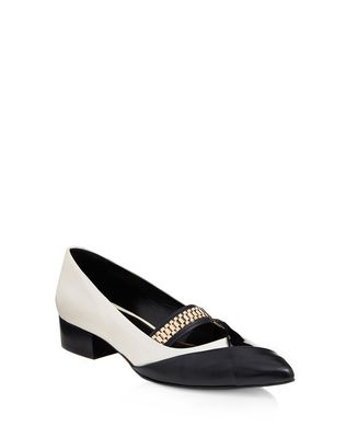 LANVIN CHAIN CROSS-OVER BALLET FLAT Ballerinas D f