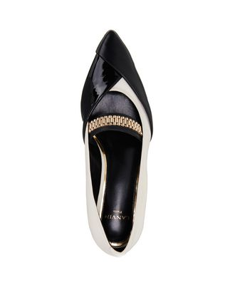 LANVIN CHAIN CROSS-OVER BALLET FLAT Ballerinas D r