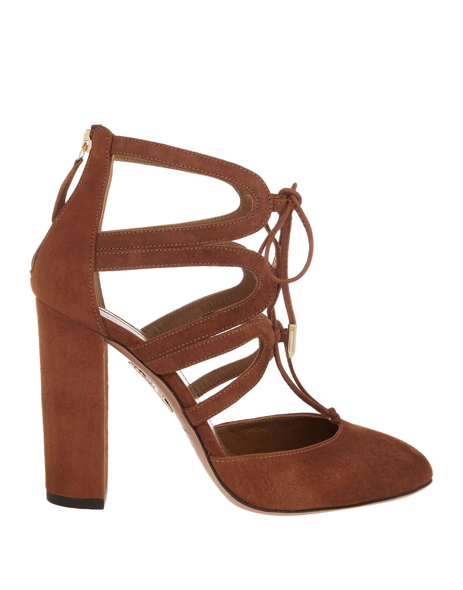 AQUAZZURA Туфли aquazzura черные туфли с ремешками charisma pump 105