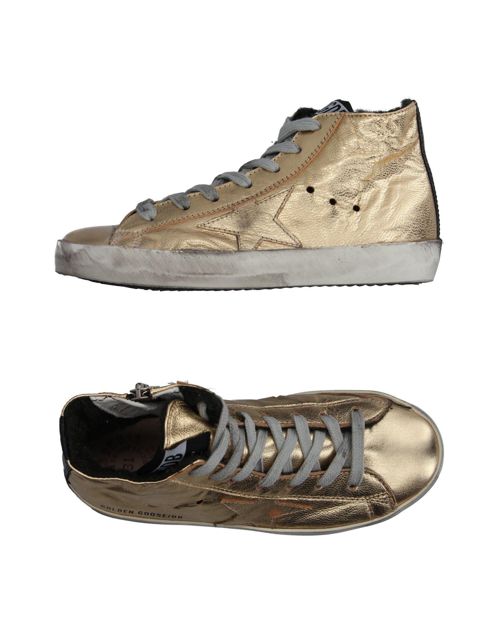 ce486a563 golden goose deluxe brand calzado sneakers abotinadas on yoox.com oro