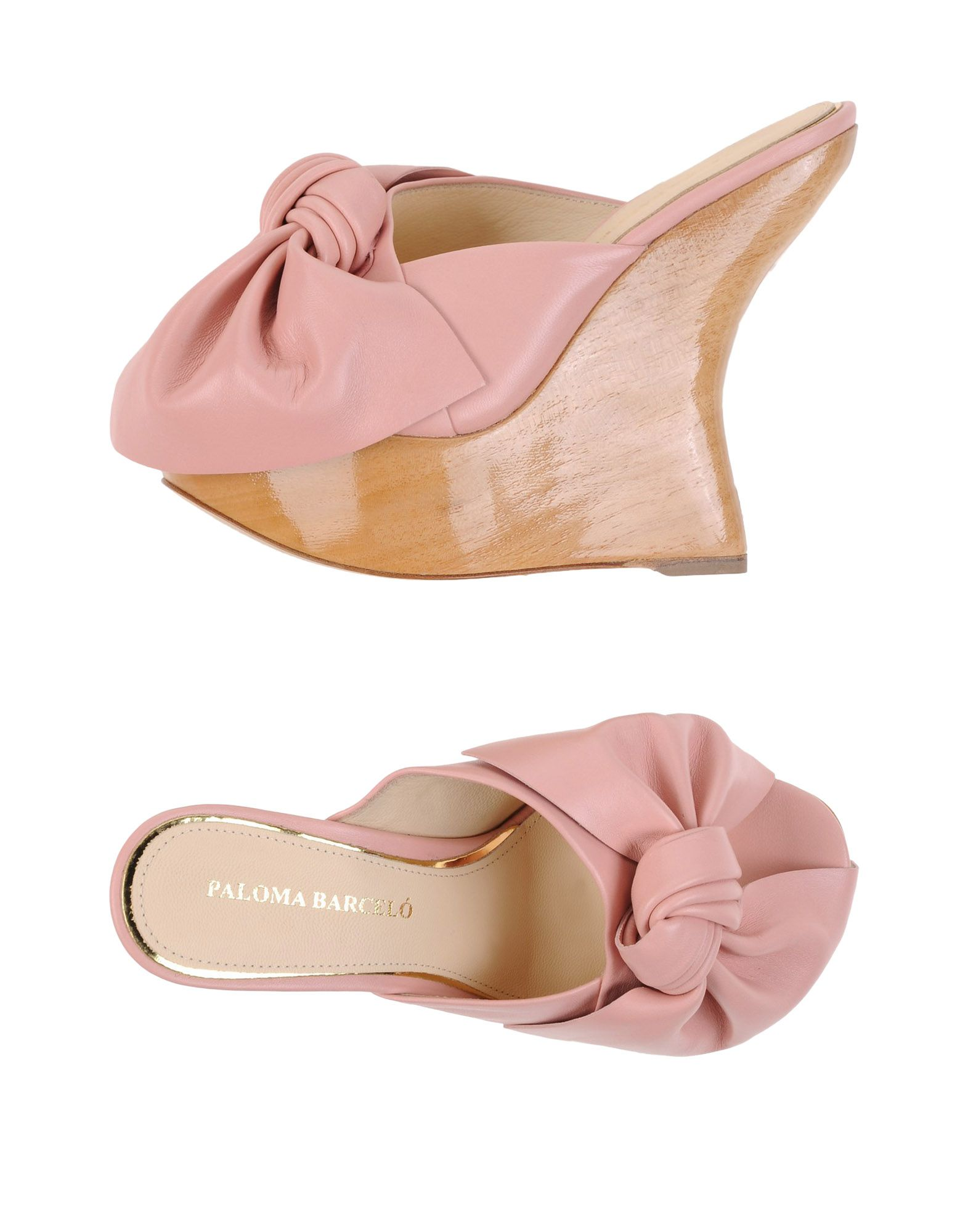 PALOMA BARCELÓ Мюлес и сабо босоножки paloma barcelo розовый